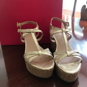 Kate Spade Metallic Wedges Size 6.5M